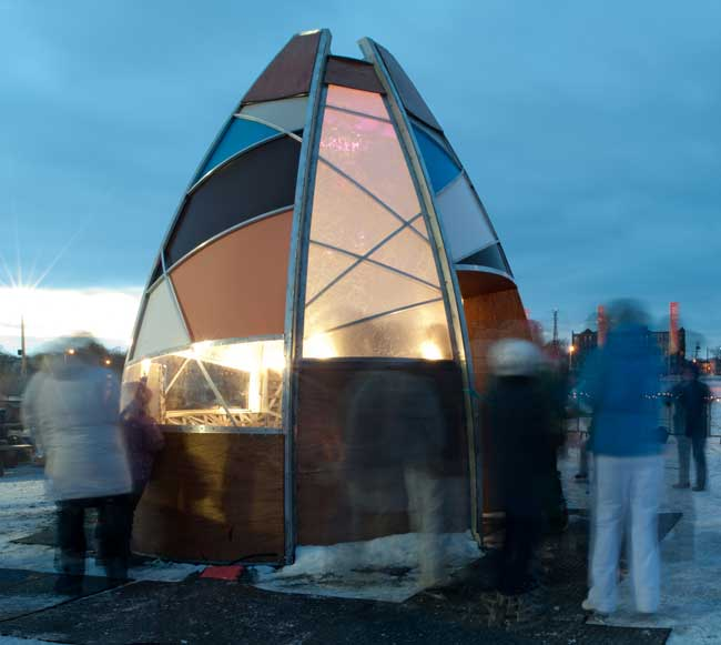 The Warming Hut – Sarah Bonnemaison and Robin Muller (Architextile Lab)